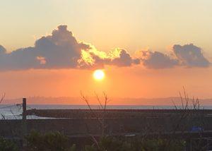 離島の日没