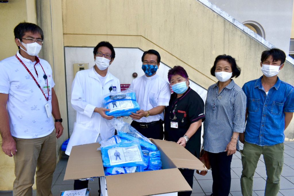 コロナウイルス、医療物資の提供